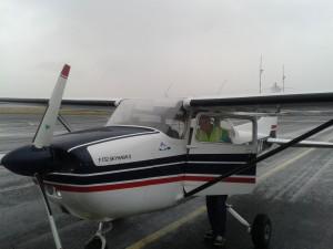 Normaal gesproken niet echt weer om te gaan vliegen...