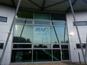 Het hoofdkantoor van MAF International in Ashford