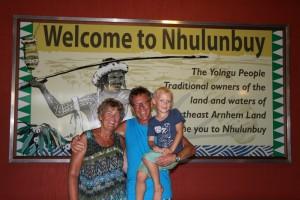 Aankomst op Gove Airport, het vliegveld in Nhulunbuy